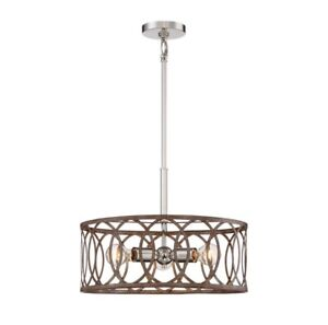 Home Decorators Collection 3-Light Polished Nickel/ Corona Bronze Pendant