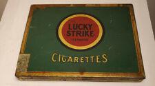 Vintage Lucky Strike Cigarette Tin Case-It's Toasted-Tobacco Storage Box,