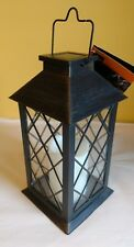 Outdoor Solar Lantern Hanging LED Light Garden Yard Patio Pillar Candle NEW
