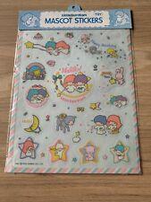 More details for ultra rare vintage 1976  sanrio little twinstars large sticker sheet