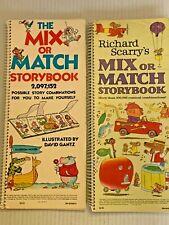 Vintage Mix or Match Storybook Lot of 2 RIchard Scarry's & David Gantz