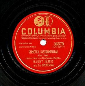 HARRY JAMES 1942 Columbia 36579 - Strictly Instrumental / When You're a Long...