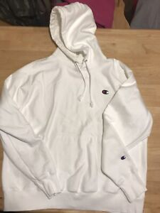 Champion Reverse Weave Pullover Hoodie - White - XL