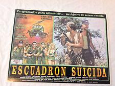 VINTAGE MEXICAN MOVIE POSTER 1991 Escuadron Suicida Suicide Squad Hugo Stiglitz