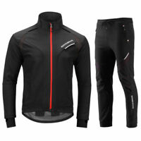 RockBros Winter Cycling Jacket Thermal Windproof Set Outdoor Jersey & Pants