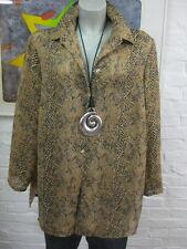 SO BIN ICH schicke Bluse Hemd Gr.44/46, Mehrfarbig Locker *184