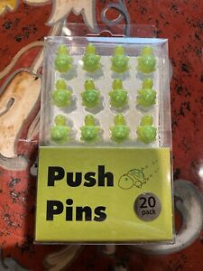20 Decorative Green Turtles Thumbtacks Push Pins Cork Board Thumb Tacks Ryman UK