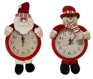 Farther Christmas Wall Hanging Clock Home Decor Santa Xmas Decorations Snowman