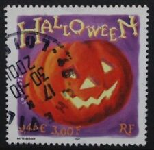 FRANCE 2001 Halloween: 3f Pumpkin. Set of 1. Fine USED. SG3758.