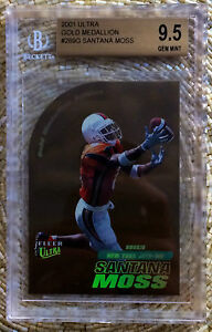 2001 FLEER ULTRA GOLD /100 SANTANA MOSS BGS 9.5 RC POP 1 CARDREGISTRY