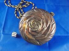 Antike Metall Damentasche Handtasche in Rosenform Geldtasche Ø12,5cm