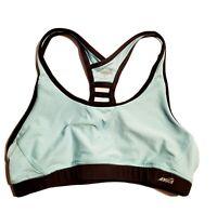 Women's Avia Light Turquoise & Gray Sports Athletic Bra Size Large L EUC