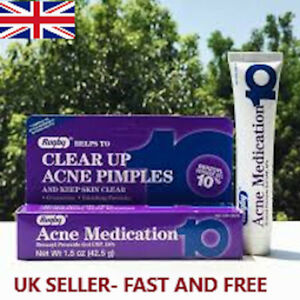 Rugby 10% Benzoyl Peroxide Acne Medication Cream Gel SAME DAY DISPATCH exp 01/22