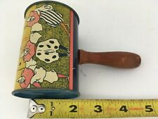 Vintage Tin Toy Litho Litograph Noise Maker New Years Birthday Party Wood Handle