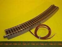 Voie ROCO GEOLINE Rail Courbe Rayon R3 avec fils d'alimentation Continu ou DCC