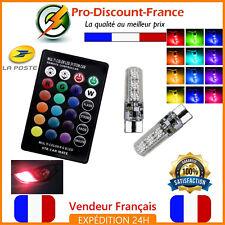 2 x Ampoule LED RGB T10 W5W Télécommande Veilleuse Tuning Ampoules Voiture