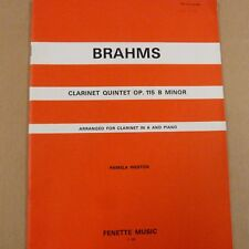 Clarinetto BRAHMS Clarinetto QUINTETTO OP 115 B minore, Pamela Feston, clarinetto in un
