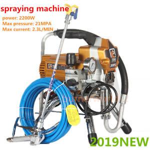 395 High Pressure Airless Wall Paint Spray Gun Sprayer Spraying Machine 2200W