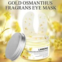 50x Vitamin C Anti-Falten Gold Osmanthus Augenmaske Eye Gel Pad Augenlid Pa Z4T7