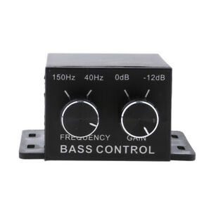 Car Home Auto Audio Amplifier Subwoofer Bass RCA Level Remote Volume Control