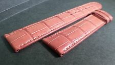Montblanc band, alligator, BROWN, 19.5/18mm, 80x110 approx lengths, lightly padd