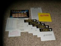 """Links MS-DOS PC Game on 5.25"""" disk with Player manual"""