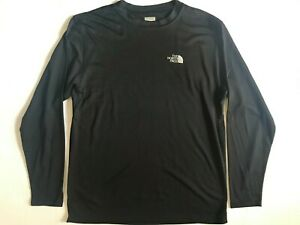 New Vintage 90s NORTH FACE Mens Black Athletic Top Shirt Tee T-shirt M Made USA