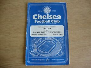 1954/5 Chelsea v Wolverhampton Wolves - League Division 1 -Chelsea Champs Season
