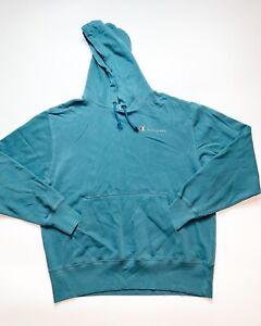 Men's 100% Authentic Champion Hoodie Size Large Color Blue