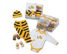 Baby Geschenk Nursery Time 5 tlg Sommerset Tiger Hose,Body,Mütze,Socken 50-62
