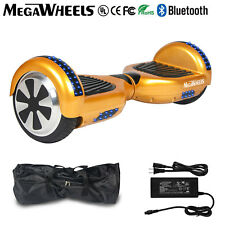 """Megawheels 6.5"""" Bluetooth Hoverboard Gold Electric Self Balancing Scooter UL+LED"""
