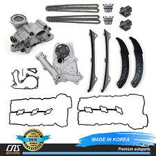 GENUINE Timing Chain Kit Water & Oil Pump Valve Cover for Hyundai Kia 3.3L 3.8L