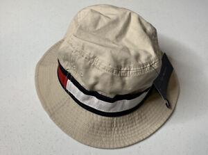 Tommy Hilfiger Mens Khaki Classic Logo Bucket Hat One Size OS NWT