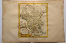 Antique Map of Hungary and Greece by Robert de Vaugondy 1778
