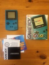 Nintendo Gameboy Colour Teal - Complete In Box