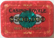 $500,000 JAMES BOND CASINO ROYALE POKER PLAQUE