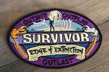 SURVIVOR Logo Embroidered Patch Edge of Extinction NEW CBS TV Show Season 38
