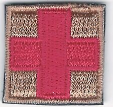 """51"""" Red on Tan Medic Red Cross Paramedic Patch VELCRO® BRAND Fastener Compatible"""