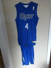 Alleson Dallas Mavericks # 4 Youth Large Reversible Basketball Jersey & Shorts
