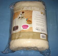 FAUX SHEEPSKIN FLEECE PET MAT BED DOG PUPPY PUPPIES EXTRA LARGE BLANKET