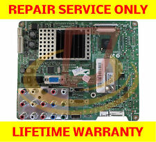 Samsung LN40A630M1FXZA Main Board *** REPAIR SERVICE *** TV Cycling On and OFF