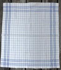 Vintage Linen Cotton Square Towel / Napkin / Fabric Checks / Squares