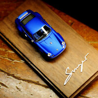 Timothy&Pierre 1:64 Scale Porsche Singer 911 964 Lobelia Blue Car Model in New
