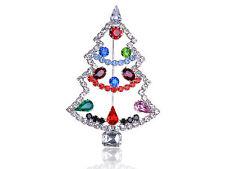 Wedding Bridal Crystal Holiday Christmas Tree Pin Brooch Hat Bag Clip Party Gift