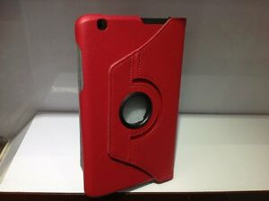 """Cover Rotate for LG G Pad 8.3"""" V500 Tablet 360 Folio Leatheroid Stand Case red"""