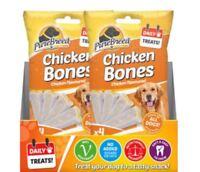 PURE BREED 100% VEGETARIAN DOG TREAT TREATS CHICKEN BONES 6 PACKS 0247