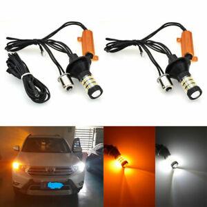 2pcs 50W 4014 Canbus Blinker Kit 1156 3156 Zweifarbige Switchback LED DRL Licht