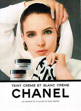 PUBLICITE ADVERTISING 114  1988   CHANEL cosmétiques TEINT BLANC & CREME