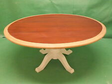 Coffee Table Oval Oak & Mahogany Refurbished Shabby Chic finish if you require