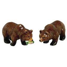 Andrea Sadek Ceramic Brown Bear Salt Pepper Shakers #61240 NIB *SHIPPING DISC*